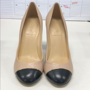 JCREW black and nude work pumps - size 38